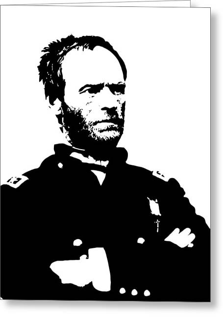 Leader Digital Art Greeting Cards - General Sherman Greeting Card by War Is Hell Store