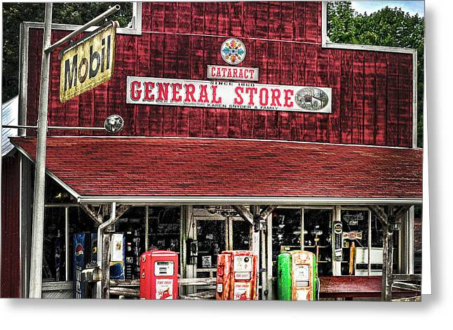 Randall Branham Greeting Cards - General Store Cataract In. Greeting Card by Randall Branham
