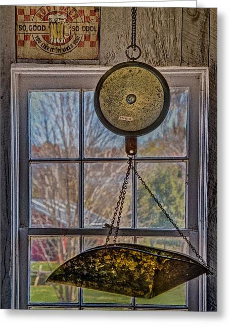 Deli Greeting Cards - General Store Scale Greeting Card by Susan Candelario