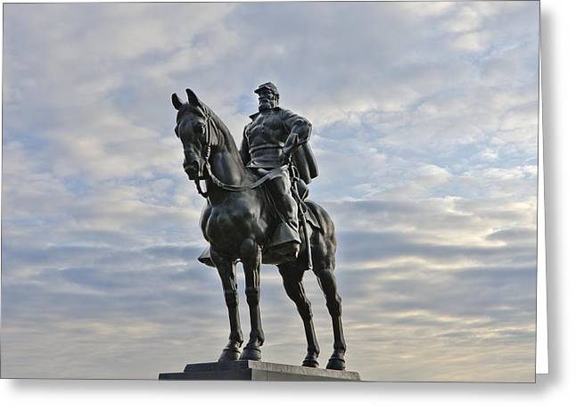 Stonewall Greeting Cards - General Thomas - Stonewall - Jackson statue at Manassas National Battlefield Park - Virginia Greeting Card by Brendan Reals