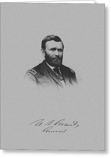 Us Grant Greeting Cards - General Ulysses Grant And His Signature Greeting Card by War Is Hell Store