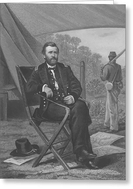 President Drawings Greeting Cards - General U.S. Grant Greeting Card by War Is Hell Store