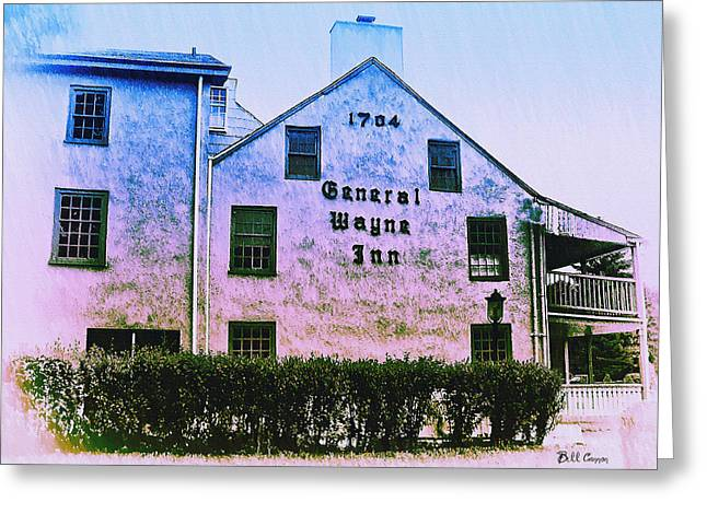 Merion Greeting Cards - General Wayne Inn - Merion Pennslyvania Greeting Card by Bill Cannon