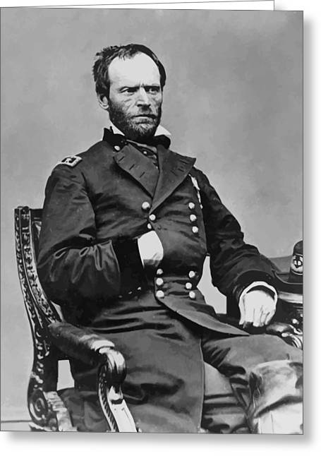 The Sea Greeting Cards - General William Sherman Greeting Card by War Is Hell Store