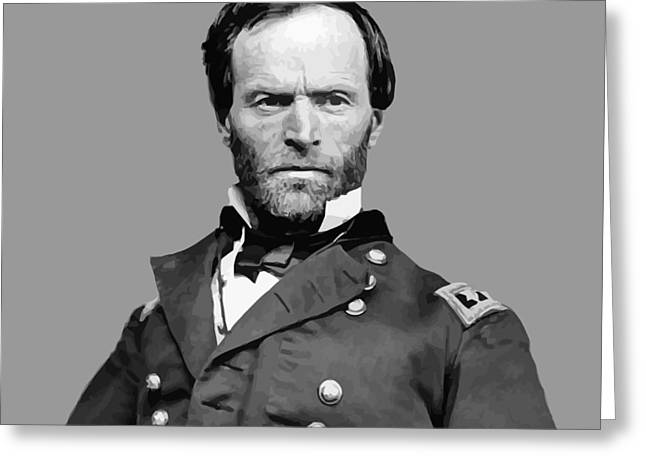 Product Greeting Cards - General William Tecumseh Sherman Greeting Card by War Is Hell Store