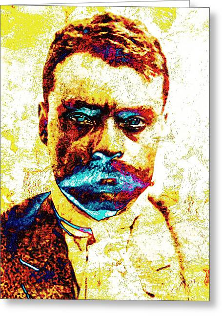 Mexican Revolution Greeting Cards - General Zapata Greeting Card by Jose Espinoza