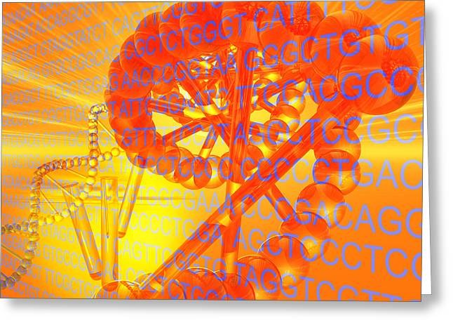 Biology Digital Art Greeting Cards - Genetic Research Greeting Card by Carol and Mike Werner