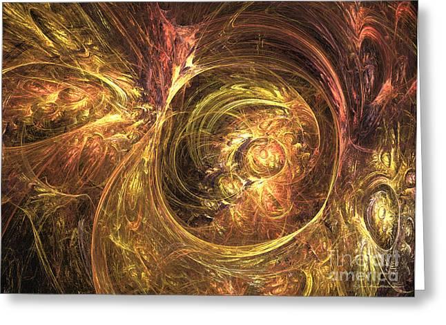 Geometric Digital Art Greeting Cards - Genius - abstract art Greeting Card by Abstract art prints by Sipo