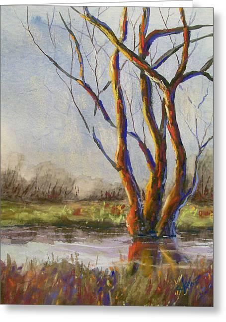 Creek Pastels Greeting Cards - Gentle Creek Greeting Card by Christine Camp