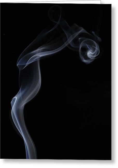 Smoke Art Greeting Cards - Gentle Curves Greeting Card by Bryan Steffy