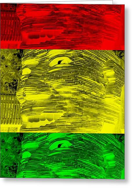 Human Trafficking Digital Greeting Cards - GENTLE GIANT in NEGATIVE STOP LIGHT COLORS Greeting Card by Rob Hans