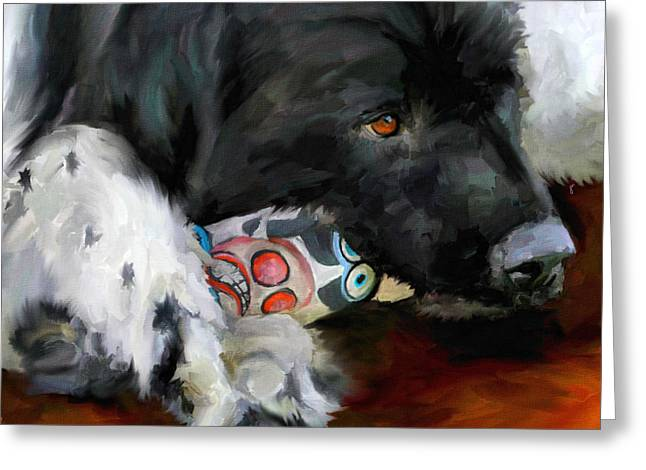 Big Dog Greeting Cards - Gentle Soul Greeting Card by Jai Johnson