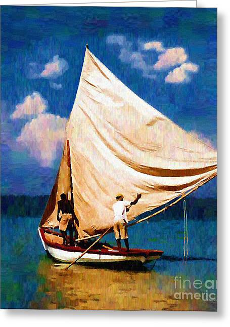 Haitian Paintings Greeting Cards - Gentle Winds Greeting Card by Diane E Berry