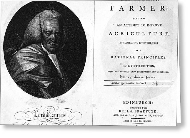 Book Title Greeting Cards - Gentleman Farmer, 1802 Greeting Card by Granger