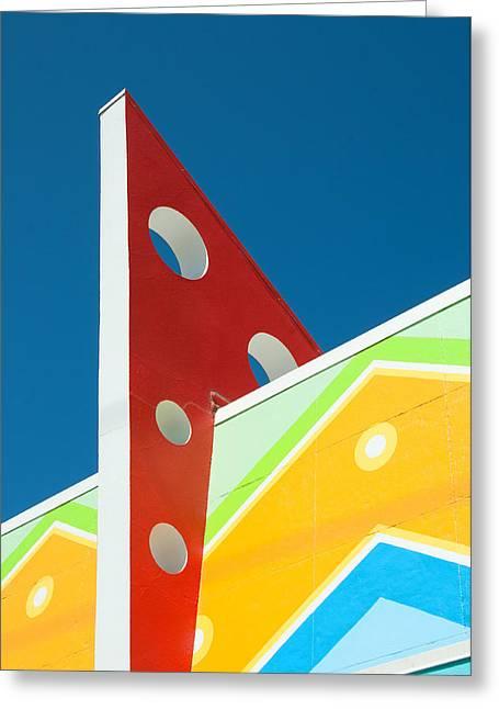 Santa Cruz Art Greeting Cards - Geometric Colors of Deco Greeting Card by Kent Sorensen
