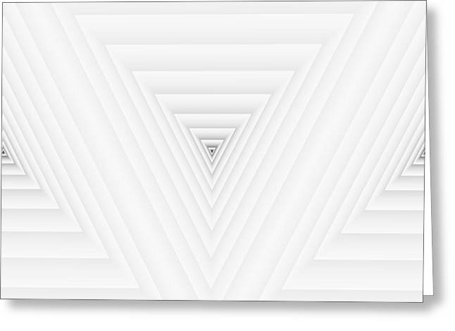 Modern Digital Art Digital Art Greeting Cards - Geometric Composition From Triangle Numbers Greeting Card by Evan Steenson