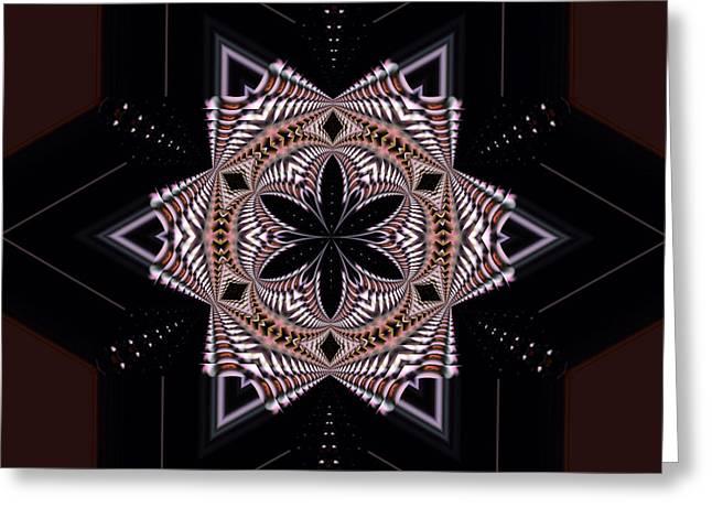 Geometric Digital Art Photographs Greeting Cards - Geometric Kaleidoscope Greeting Card by Laura Mountainspring