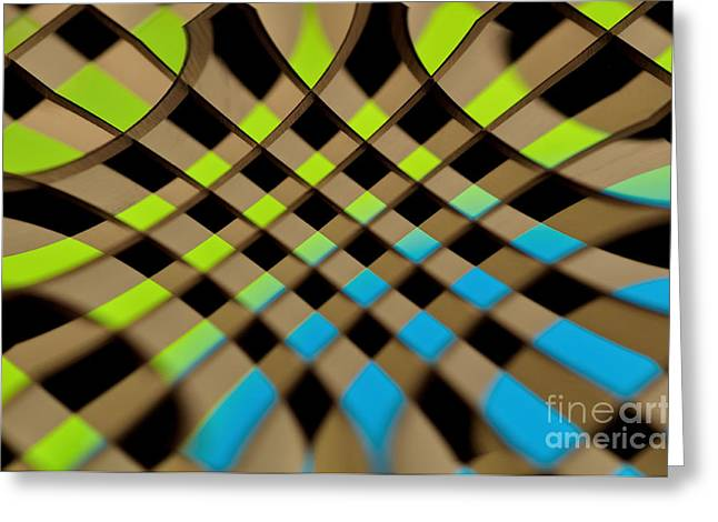 Geometrical Art Greeting Cards - Geometrical Colors and Shapes 1 Greeting Card by Kaye Menner