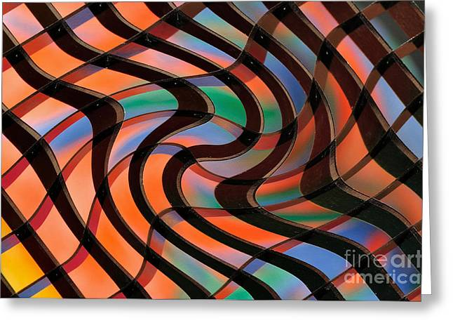 Geometrical Art Greeting Cards - Geometrical Colors and Shapes 2 Greeting Card by Kaye Menner