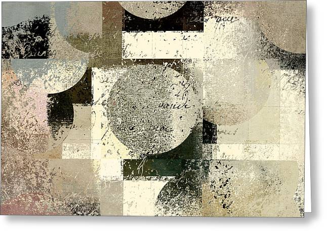 Abstract Shapes Greeting Cards - Geomix - c133et02b Greeting Card by Variance Collections
