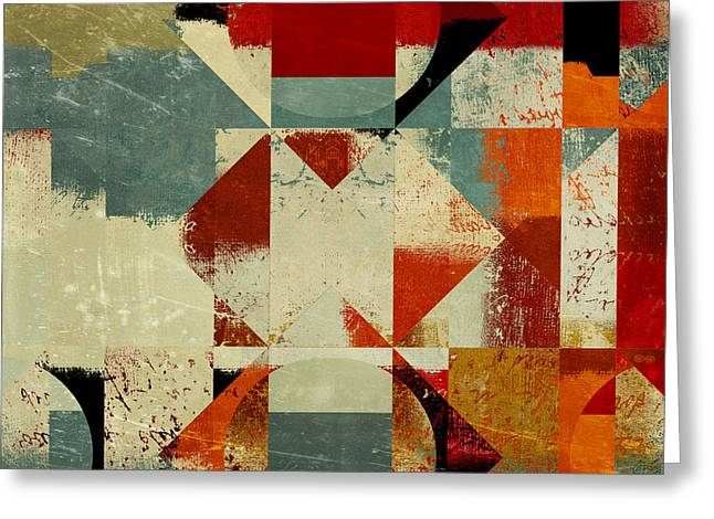 """textured Art"" Greeting Cards - Geomix 04 - 39c3at227a Greeting Card by Variance Collections"