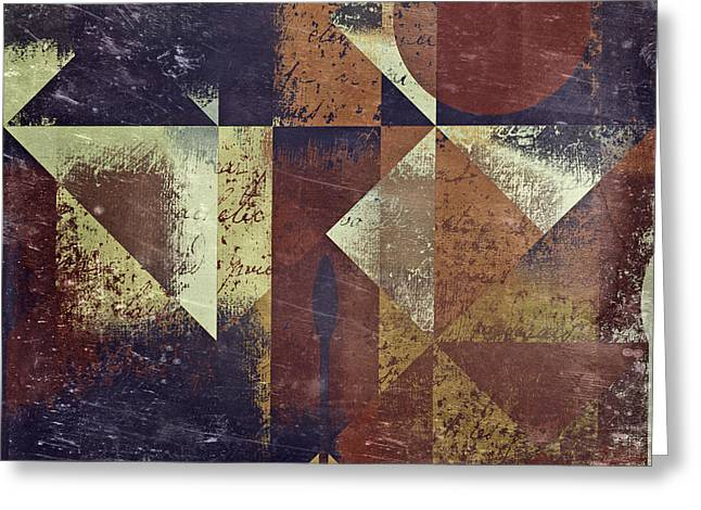 Abstract Shapes Greeting Cards - Geomix 04 - 6ac8bv2t7c Greeting Card by Variance Collections