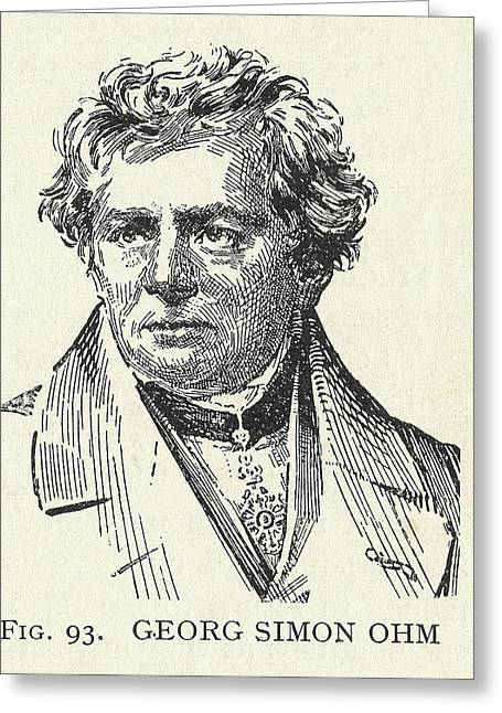 Ohms Greeting Cards - Georg Simon Ohm, German Physicist Greeting Card by Science, Industry & Business Librarynew York Public Library