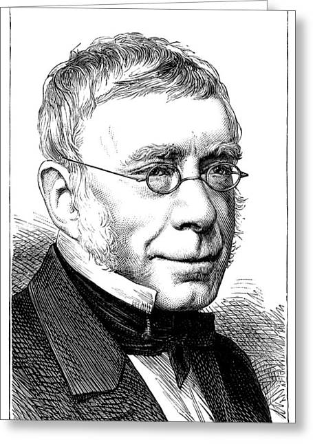 Royal Society Greeting Cards - George Airy, British Astronomer Greeting Card by