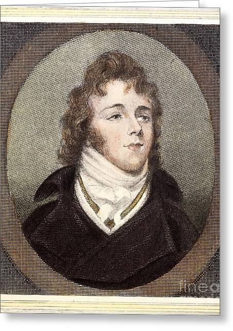 Sideburns Greeting Cards - George Brummell (1778-1840) Greeting Card by Granger
