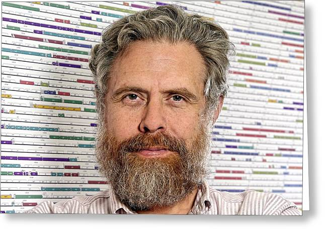 Computational Greeting Cards - George Church, Us Geneticist Greeting Card by Volker Steger