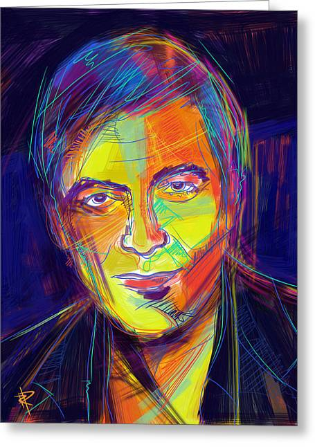 Clooney Greeting Cards - George Clooney Greeting Card by Russell Pierce