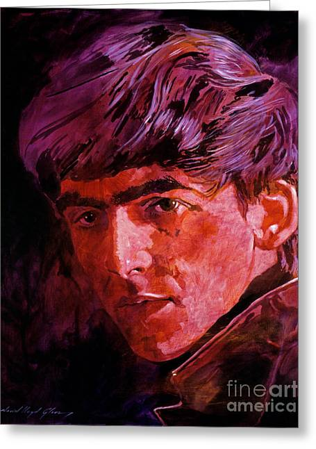 Singer Paintings Greeting Cards - George Harrison Greeting Card by David Lloyd Glover