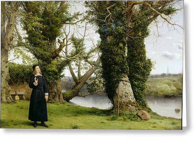 Orator Greeting Cards - George Herbert at Bemerton Greeting Card by William Dyce