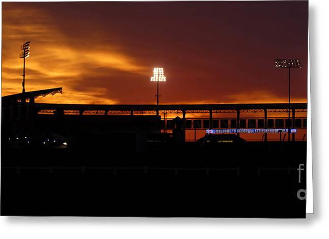 Baseball Art Photographs Greeting Cards - George M Steinbrenner Field Greeting Card by David Lee Thompson