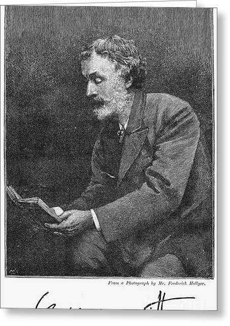George Meredith (1828-1909) Greeting Card by Granger