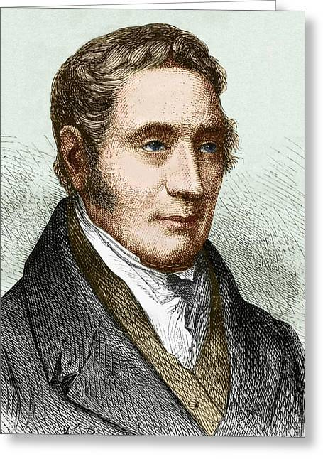 George Stephenson (1781-1848) Greeting Card by Sheila Terry