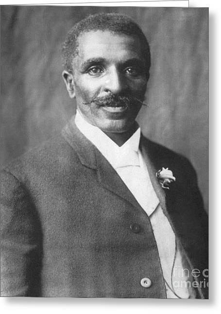 African-american Greeting Cards - George W. Carver, African-american Greeting Card by Science Source