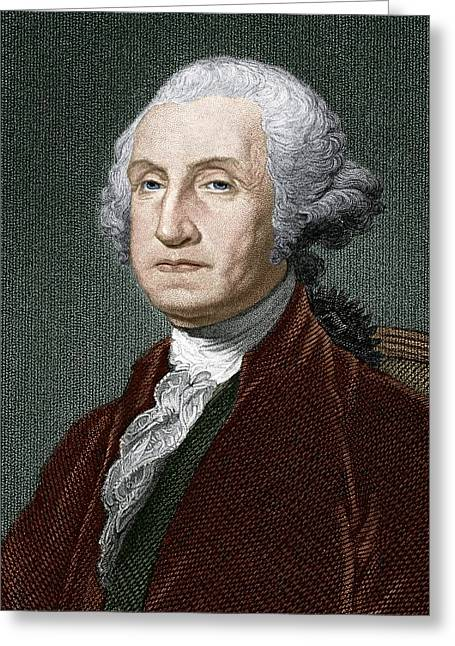 President Of America Greeting Cards - George Washington, First Us President Greeting Card by Sheila Terry