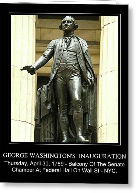 Inauguration Greeting Cards - George Washington Greeting Card by Marvin Blatt