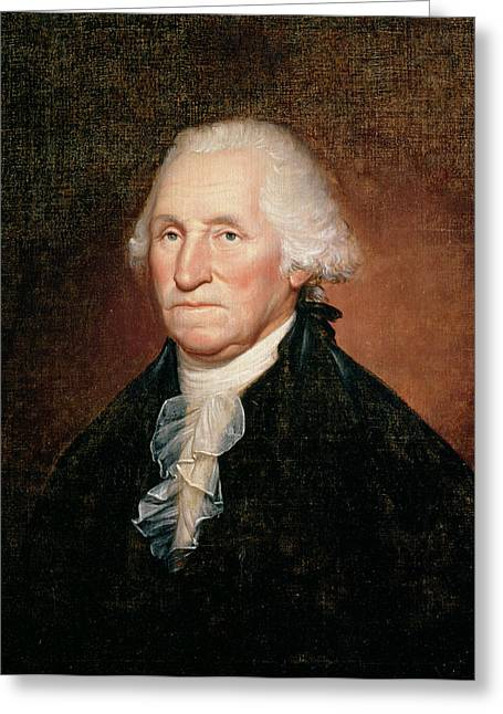 America President Greeting Cards - George Washington  Greeting Card by Rembrandt Peale