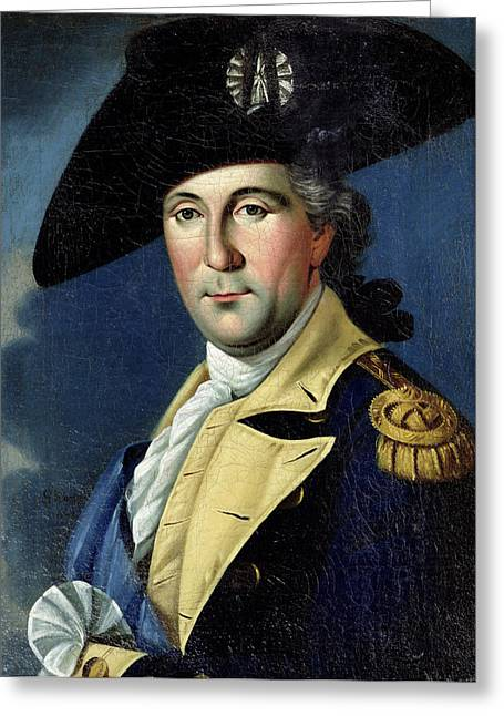 18th Century Greeting Cards - George Washington Greeting Card by Samuel King