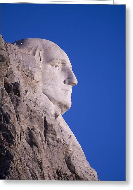 Dakota Faces Greeting Cards - George Washingtons Profile At Mt Greeting Card by Joel Sartore