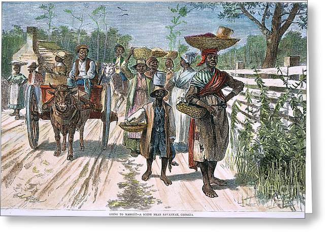 Sharecropper Greeting Cards - Georgia: Market, 1875 Greeting Card by Granger