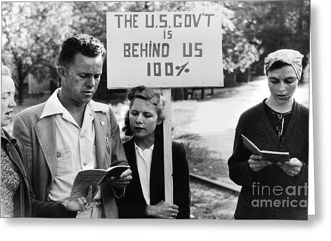 Protesters Greeting Cards - Georgia: Picketers, 1941 Greeting Card by Granger