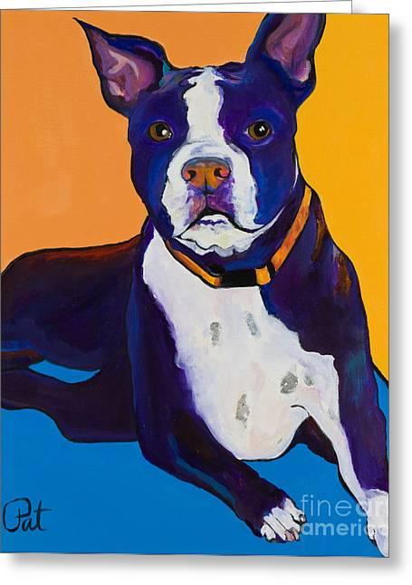 Pat Saunders-white Paintings Greeting Cards - Georgie Greeting Card by Pat Saunders-White