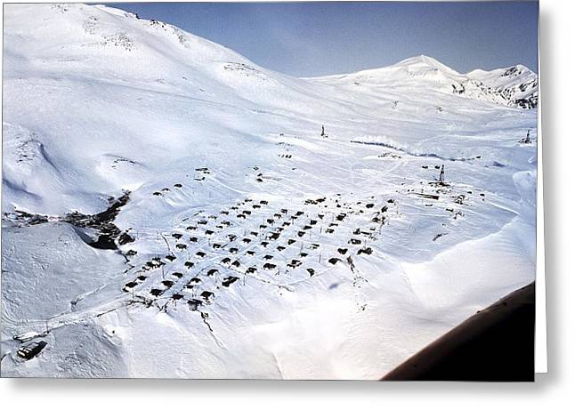 Eco-village Greeting Cards - Geothermal Research Site, Kamchatka Greeting Card by Ria Novosti