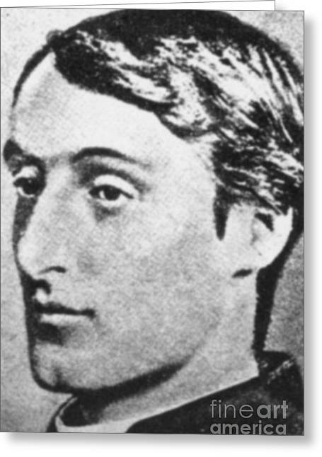 Manley Greeting Cards - Gerard Manley Hopkins Greeting Card by Science Source