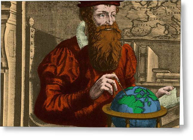 Essential Greeting Cards - Gerardus Mercator, Flemish Cartographer Greeting Card by Photo Researchers, Inc.