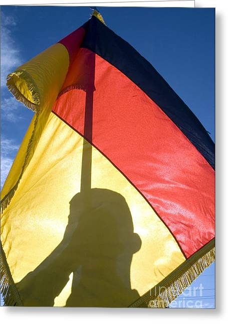 Patriotic Photography Greeting Cards - German Air Force Airman Holds Greeting Card by Stocktrek Images