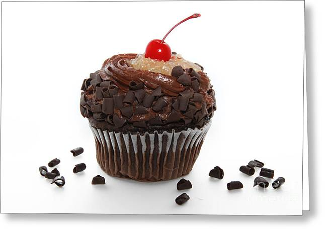 Frosting Greeting Cards - German Chocolate Cupcake Greeting Card by Andee Design